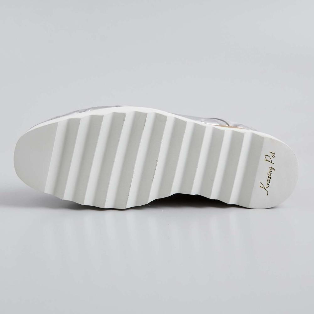 ENMAYER Primavera Mulher Sapatos de Salto Alto Do Dedo Do Pé Quadrado Calcanhar Quadrado Plataforma Mulheres Casual Shoes Lace up Namoro Sólida Rasa sapatos de senhora - 6