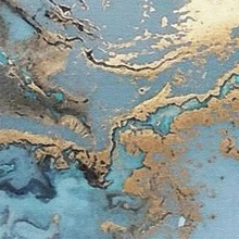 3D Custom Wallpapers Stereo Blue Texture Marble Wall Paper