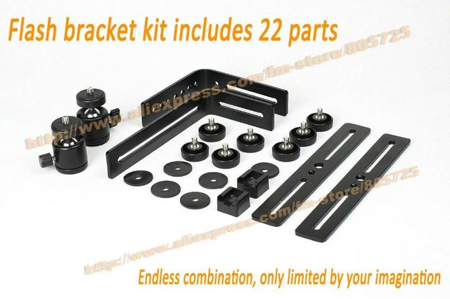 Free shipping Professional Ultra Flash Bracket L I Multi-Combination 4 Wedding include 22 parts 107005