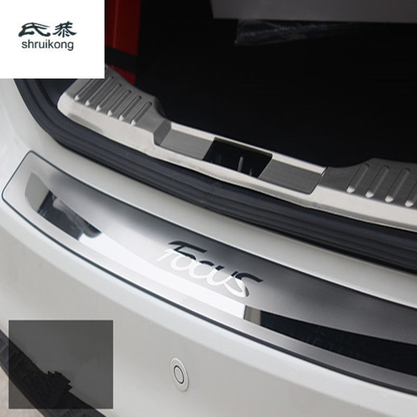 Free shipping for 2005-2011 Ford Focus MK2 hatchback and sedan Stainless Steel back rear trunk Sill Scuff Plate Protection pedal high quality chrome tail light cover for ford focus 08 11 hatchback free shipping