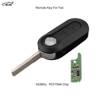 RIN 3Pcs 433mhz Remote Car Key For Fiat 500 Grande Punto PCF7946 Chip Control Alarm Fob
