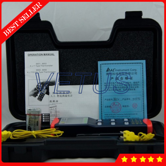 AZ8856 Temperature gauge prices with digital thermometer available K / J / T / E / R / S / N temperature probe цена и фото