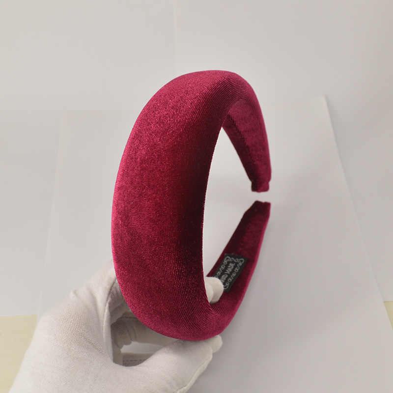 Moda kalın kadife Headbands kadınlar geniş kafa bandı şapkalar esneklik Hairbands zarif kız saç aksesuarları Vintage kafa bandı