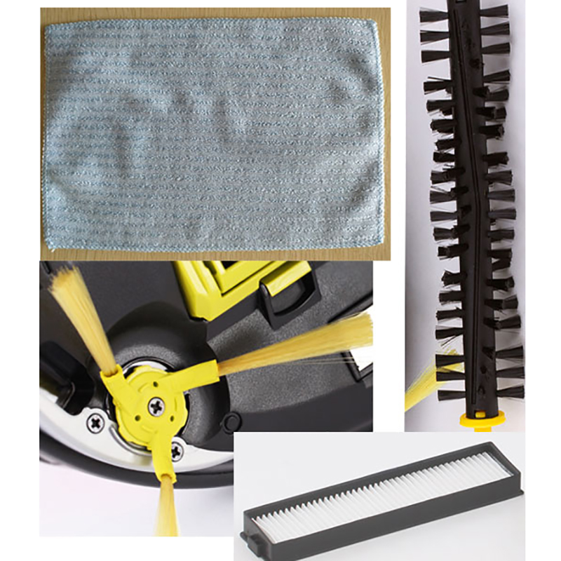 Replacement Main brush, mop cloth, side brush filters for LG Hom Bot VR6270LVM VR65710 VR6260LVM series Robot Vacuum CleanerReplacement Main brush, mop cloth, side brush filters for LG Hom Bot VR6270LVM VR65710 VR6260LVM series Robot Vacuum Cleaner