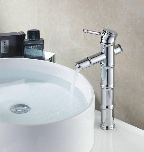 Polished Chrome Brass Single Lever Handle Tall Bamboo Shape Bathroom Vessel Sink Basin Faucet Mixer Taps anf056Polished Chrome Brass Single Lever Handle Tall Bamboo Shape Bathroom Vessel Sink Basin Faucet Mixer Taps anf056