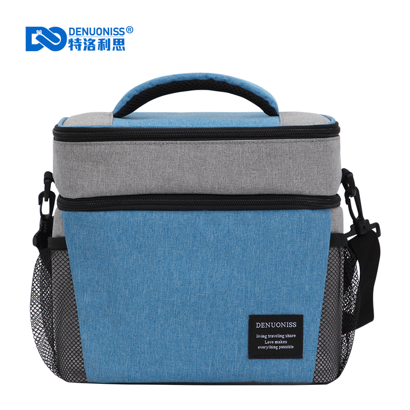 DENUONISS Creative Double Insulation Cold Ice Bag Aluminum Foil Lunch Box Bag Fruit Red Wine Picnic Bag Cold Bag For Food