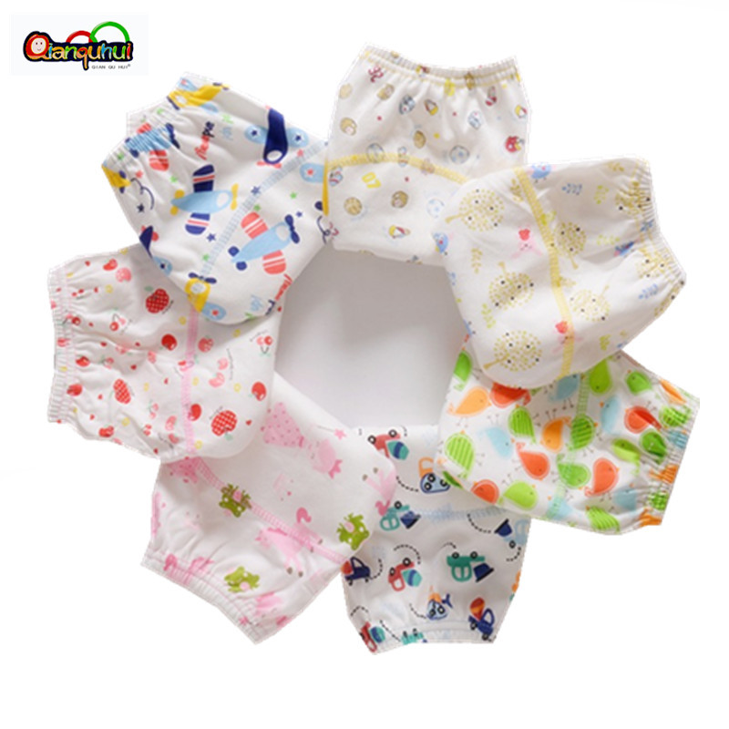 Cotton Reusable Baby Training Pants Infant Shorts Underwear Cloth Diaper Nappies Baby Waterproof Potty Training Panties(China)