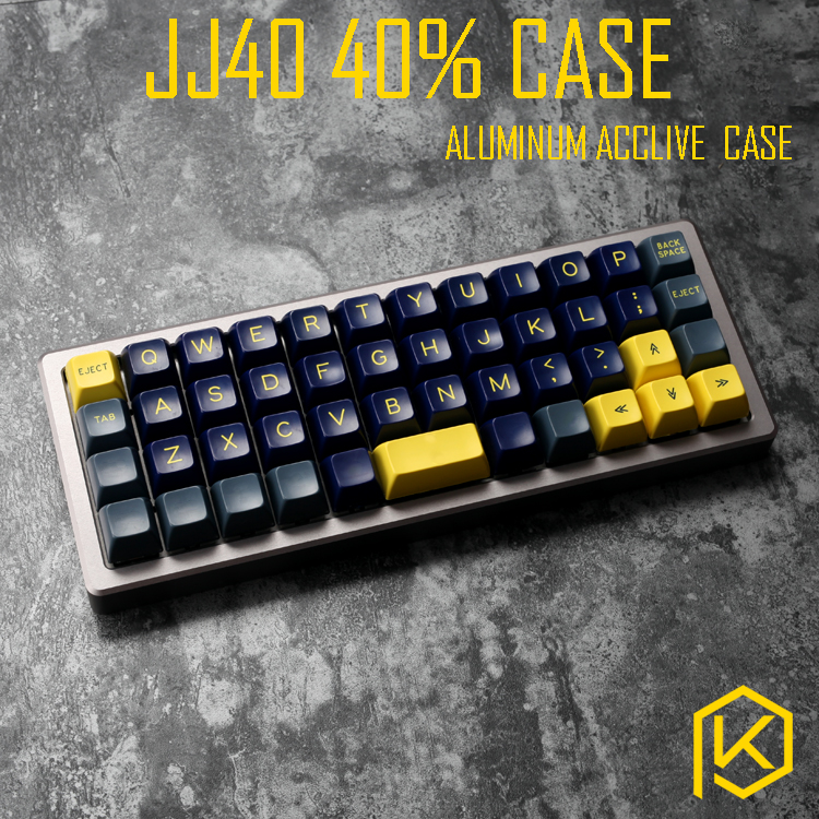 Anodized Aluminium case forjj40 40 custom keyboard acrylic panels acrylic diffuser can support jj40 acclive case