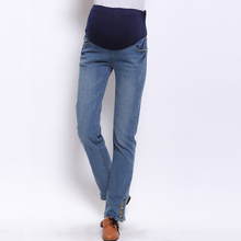 Smooth summer jeans trousers design for maternity women clothes