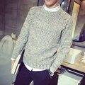 Qiu dong temporada de color sólido jersey de cuello alto suéter de cuello redondo cultiva de una de la moralidad