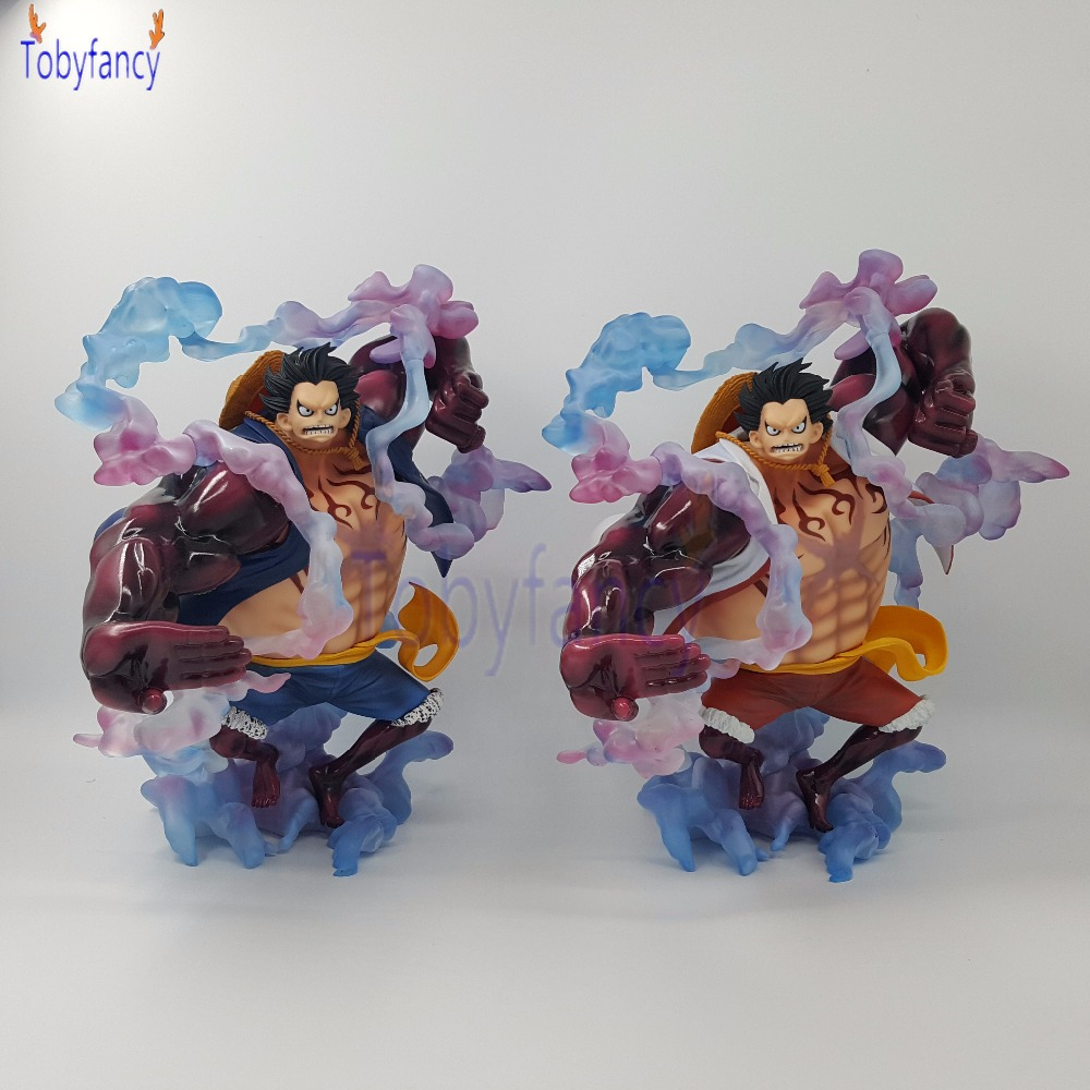 Anime One Piece Monkey D Luffy Gear 4 Bound Man King Kong Gun PVC Action Figure Luffy Gear Fourth Collection Model Toy Gifts anime one piece dracula mihawk model garage kit pvc action figure classic collection toy doll