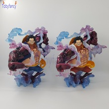 Anime One Piece Monkey D Luffy Gear 4 Bound Man King Kong Gun PVC Action Figure Luffy Gear Fourth Collection Model Toy Gifts