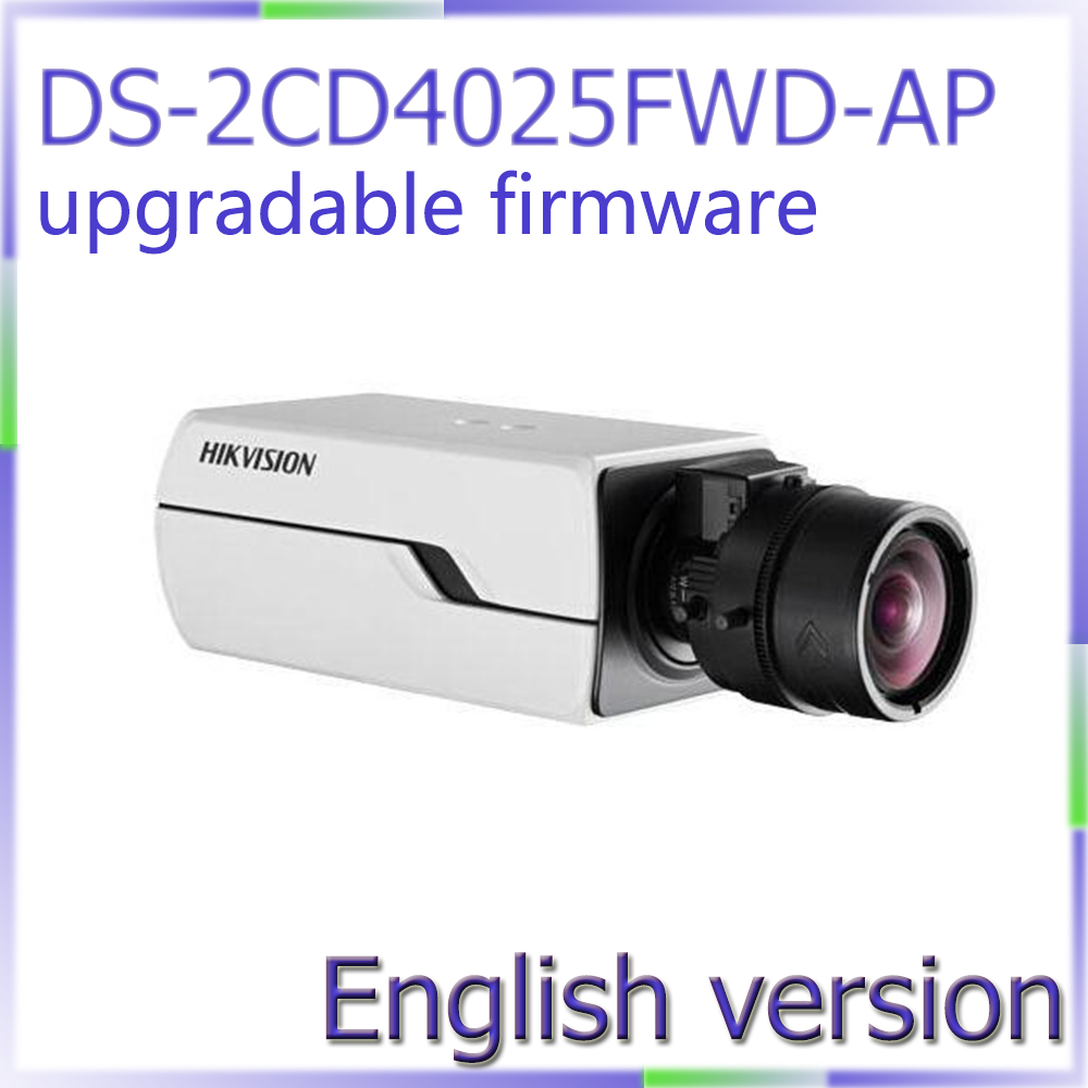 free shipping DS-2CD4025FWD-AP english version 2MP Smart IP Box Camera with Auto Back Focus smart junior 2 cl cd