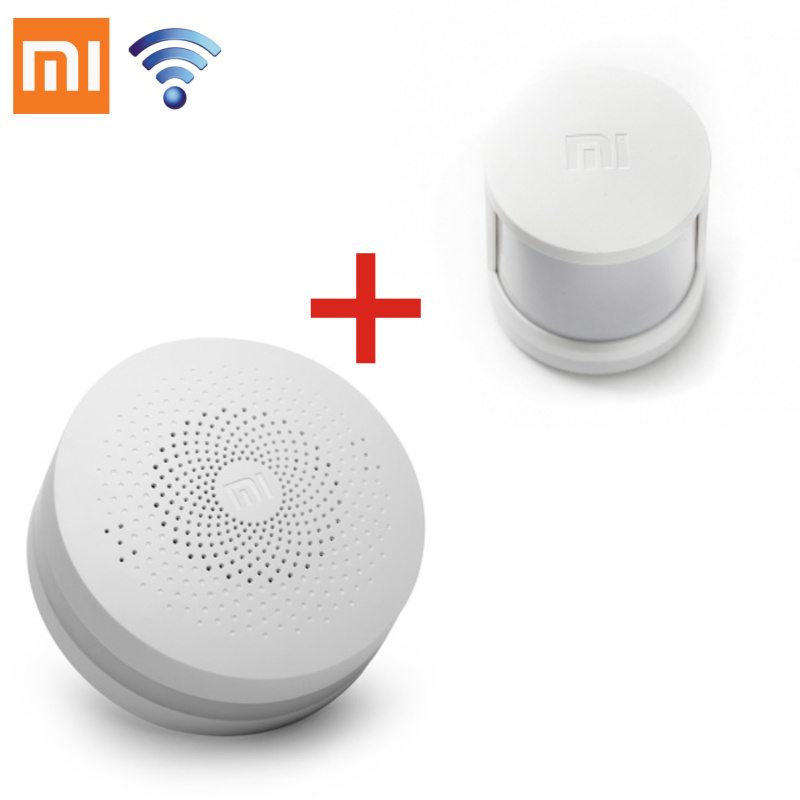 2 in1 Original Xiaomi Intelligent Mini Human Body Sensor Pocket Size Smart Home Home Multifunctional Gateway
