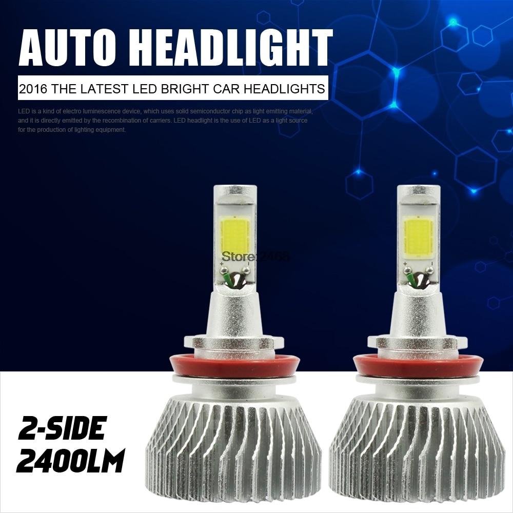 60W Car LED Headlight Kit 9004 H11 H4 H7 9007 Fog Light With ballast 12v led light auto headlamp h1 h3 h7 9005 9004 9007 h4 h15 car led headlight bulb 30w high single dual beam white light