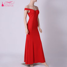 Red Blue Black Mermaid Evening Dresses V-Neck Floor Length Real Photo Cheap  Maid Of Honor Gowns Formal Wear ZE061 bfa69e82f124