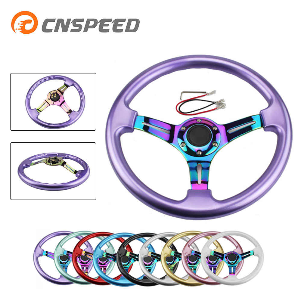 Cnspeed neo chrome novo 350mm 14 polegada volante abs volante