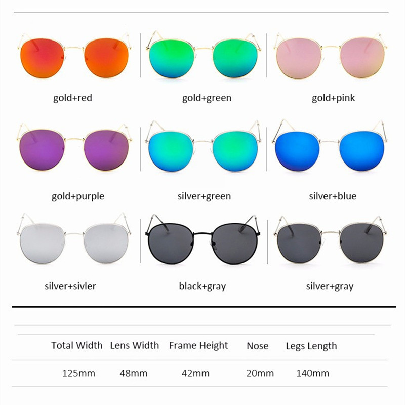 Luxury Round Sunglasses Women Brand Designer 2018 Retro Sunglass Driving Sun Glasses For Women Lady Men Female Sunglass Mirror 5