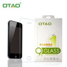 Otao Розничной Упаковке Закаленное Стекло-Экран Протектор Для iPhone 6 6 S 7 плюс 5 5S SE 2.5D Ясно HD Защитная Пленка 9 H анти-трещины