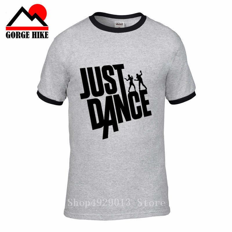 ชาย O - Neck Just Dance hip - hop เสื้อยืดพิมพ์แฟชั่น Str - Dance Tees Tops B - Boying เสื้อผ้าฝ้าย tshirt breakdancing teeshirt
