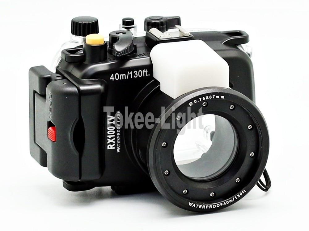 40 meters 130ft Underwater Waterproof Housing Diving Camera Case Bag for Sony RX100 IV M4 housing