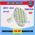 X10pcs Envío Libre al por mayor Mejor artículo SMD3528 Led de Alta potencia de La Lámpara MR11 4 W 12 V Led Spotlight bombilla led downlight iluminación