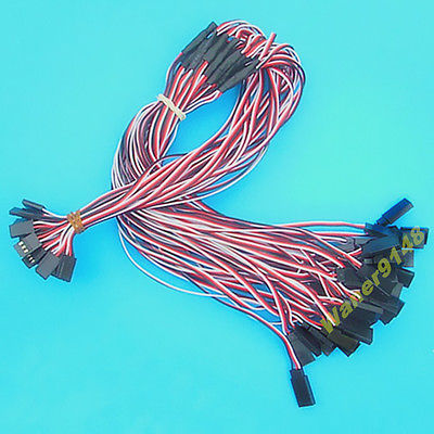 30 x 50cm 22AWG wire RC Servo Y Extension Cord Cable For RC Airplane Servo communication cable for servo drive mr cpcatcbl3m cable mr j2s a