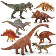 Large solid Jurassic Park dinosaur toy plastic dinosaur Tyrannosaurus rex model boy gift,8pcs/set