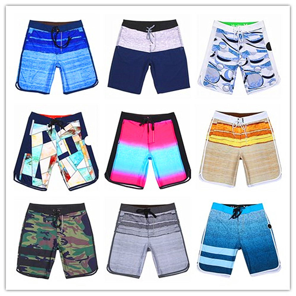 2019 Brand Phantom Beach   Board     Shorts   Men Elastic Spandex Male Swimwear 100% Quick Dry Sexy Boardshorts Bermuda Adults Swimsuit