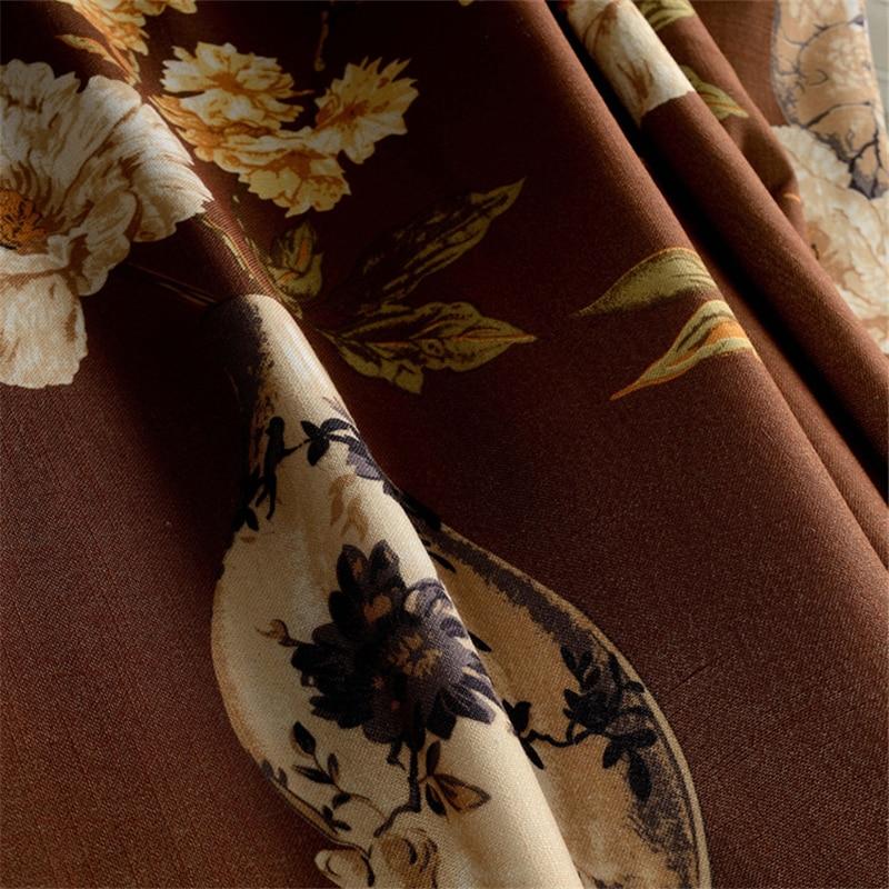 Traditionele Chinese gordijnen Vaas patroon Gordijnen Bruin kleur ...