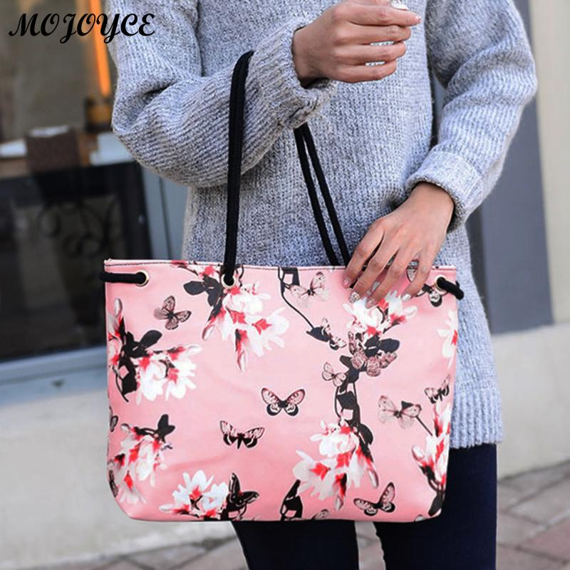 Floral Printing Shoulder Beach Bags Handbags Casual Female Tote Hobos Shopping Bag Bolsa Feminina Lady Large Capacity Tote 2018 brand designer large capacity ladies brown black beige casual tote shoulder bag handbags for women lady female bolsa feminina