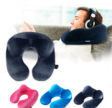 U-Shape Travel Pillow for Airplane Inflatable Neck Pillow Travel Accessories Comfortable Pillows for Sleep