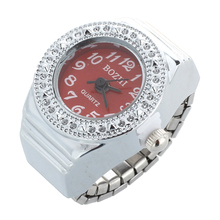 Quartz ring watch ring round women's jewelry dial numbers Rouge Arabic