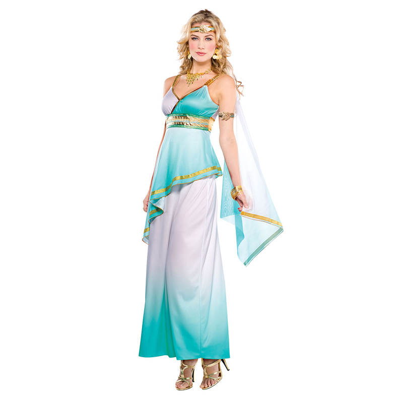 Adult Women Grecian Goddess Historical Theme Party Fancy Dress Halloween Costume on AliExpress