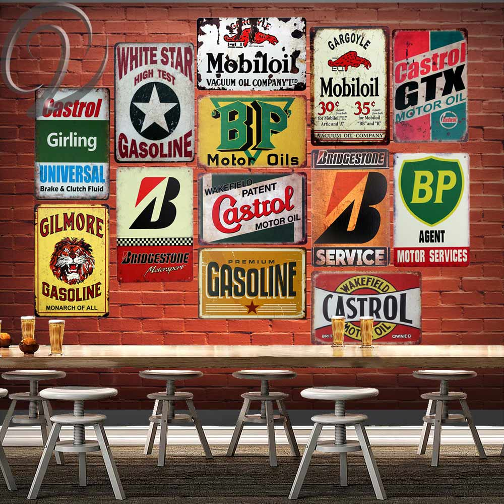 "TIN SIGN /""Castrol Motor Oil/"" Rustic Wakefield Garage Wall Decor"