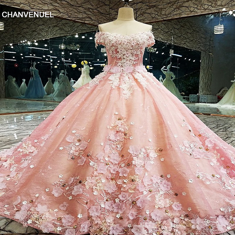 LS00133 Vestido de noite vestido de baile de luxo Lace Up Back Flores Vestido de noite 2017 Vestido De Festa Abendkleider Fotos reais