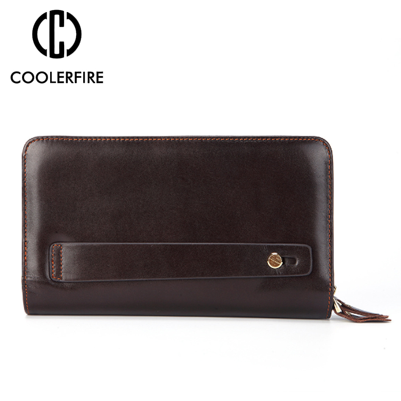 Men wallets with coin pocket long zipper coin purse for men clutch business Male Wallet Vintage Large Wallet Purse PJ022 in Wallets from Luggage Bags
