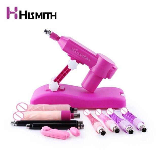 Hismith Water injection Sex machine for Women with Anal sex toys dildo Vibrators Female Masturbation Pumping Gun