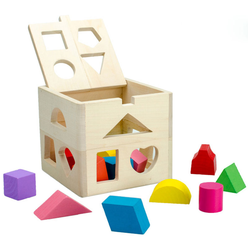 Деревянные головоломки 3D головоломки раннего обучения геометрический сортировки Box для игрушек Пазлы для детей 2018 ME2865H