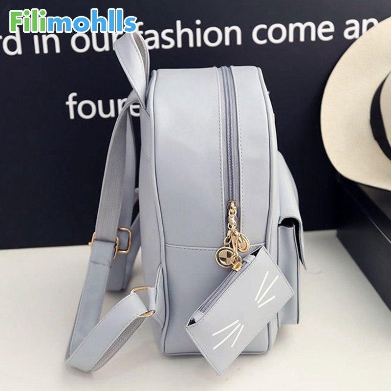 Hot Sale Cat Printing Backpack PU Leather Mini Backpacks Women School Bags  for Teenage Girls Bags Children Backpack Bag S1304 71493644c51c3