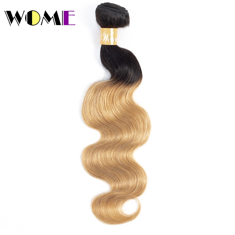 Human Hair Weaves Smart Wome Hair Extensions Burmese Hair Bundles Ombre Body Wave Human Hair 1/3 Bundle Only 1b/27 Two-tone Non-remy Hair Weave Available In Various Designs And Specifications For Your Selection Hair Extensions & Wigs