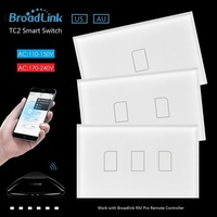 2016 New Arrival Broadlink TC2 Touch Light Switches 2Gang US AU 110V Remote Control Wall Touch