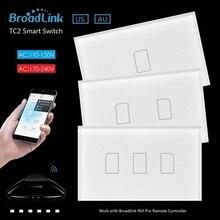 Broadlink TC2 EE. UU./AU 2017 Recién Llegado de Smart Home Touch RF Interruptores de luz 123 Gang 110 V 220 V Interruptor de Control Remoto Táctil de Pared Panel