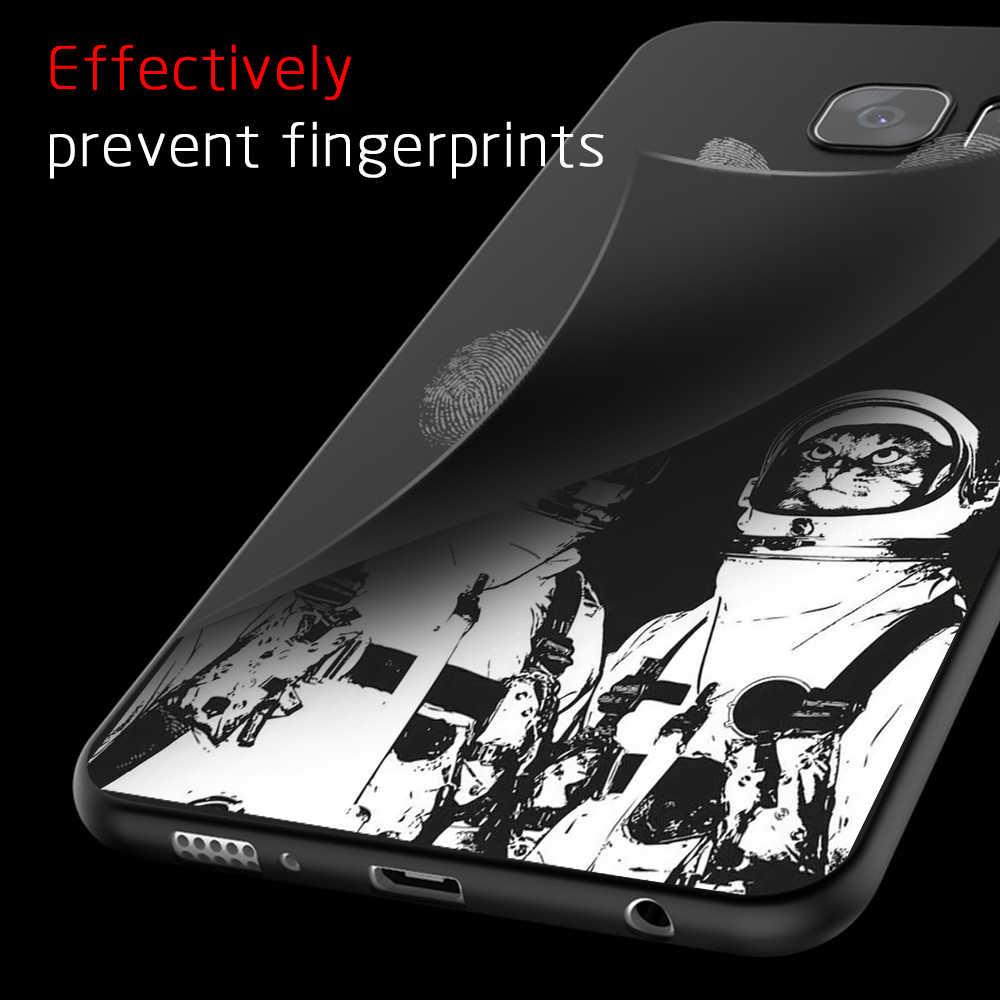 Flores Animais Padrão Case Para Samsung Galaxy S6 S7 S8 S9 Plus Borda A3 A7 A8 Plus 2018 A5 2017 J3 J5 J7 2016 Cobertura TPU casos