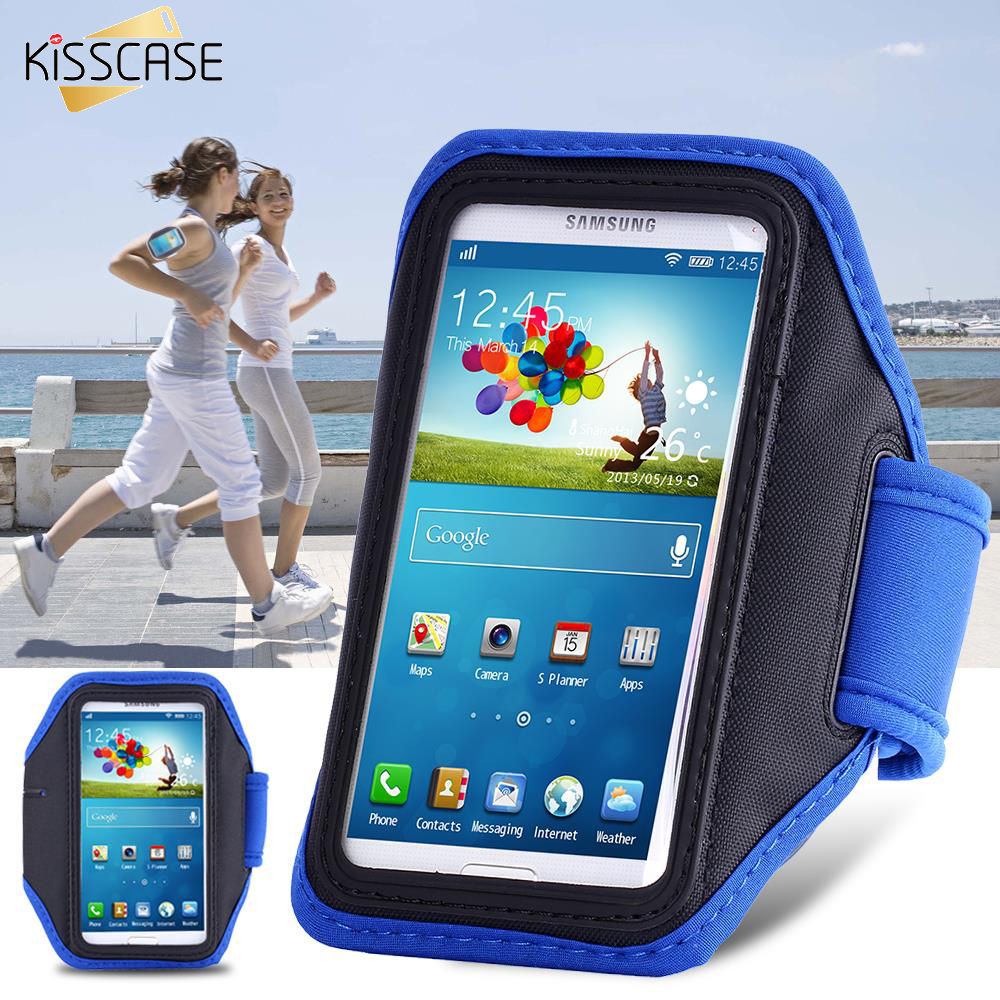 KISSCASE Sports Running Arm Band Case For Samsung Galaxy S3 S4 S5 S6 Capa Phone Holder Pouch Belt Cover Arm Bag GYM Shell