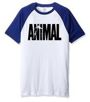 New arrival men's t shirt 2017 summer short sleeve O-neck raglan tshirt print ANIMAL funny t shirts casual sportswear t-shirt