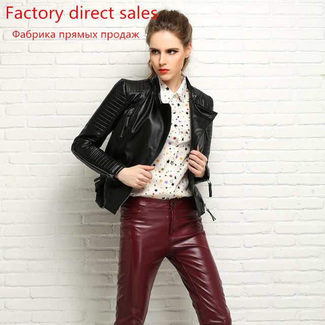 100% Real Sheepskin Coat Female Genuine Leather Jacket Short Slim Jackets For Women Outerwear 1