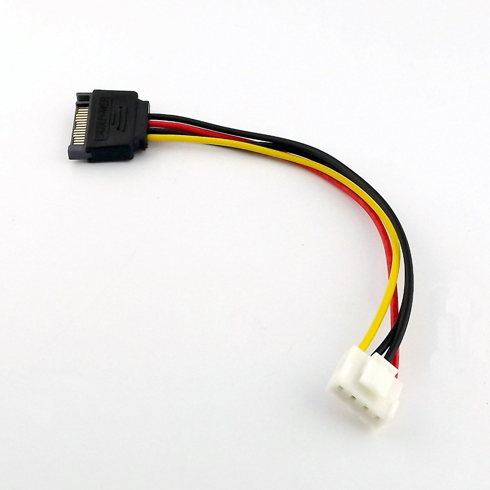 1x SATA 15Pin Male To Small 4 Pin Floppy FDD Female Power Transfer Adapter Connctor Cable 20cm