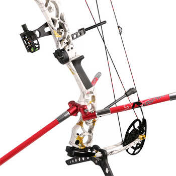 High Quality Archery Bow Accessories Double Sides V-bar Black/Red Color for Target Shooting or Hunting
