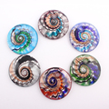6PCS New Unique Lampwork Art Glaze Murano Glass Pendants Fit for Necklace Girl Gift Charms Jewelry Making vaso FEAL C318